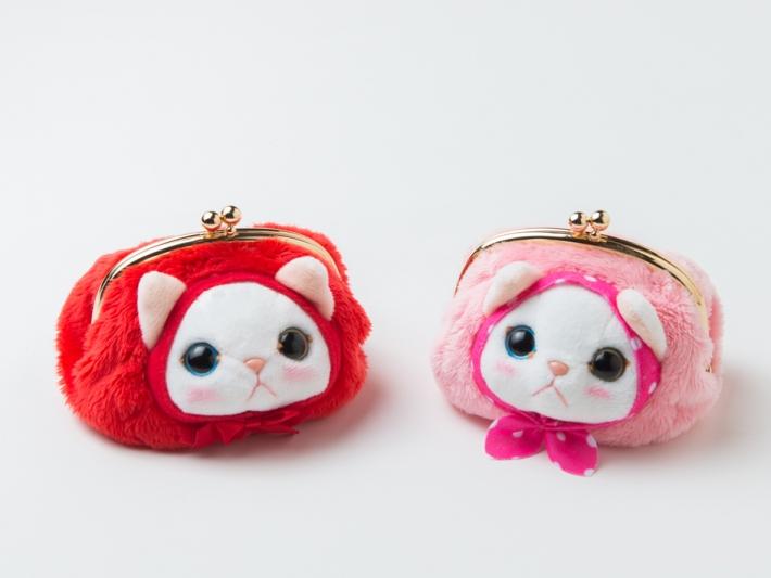 ピンクずきん猫のがまぐちもあります♪