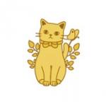猫のメタルシール バタフライ