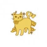 猫のメタルシール ローズ