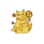 猫のメタルシール mine