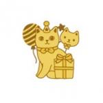 猫のメタルシール パーティー