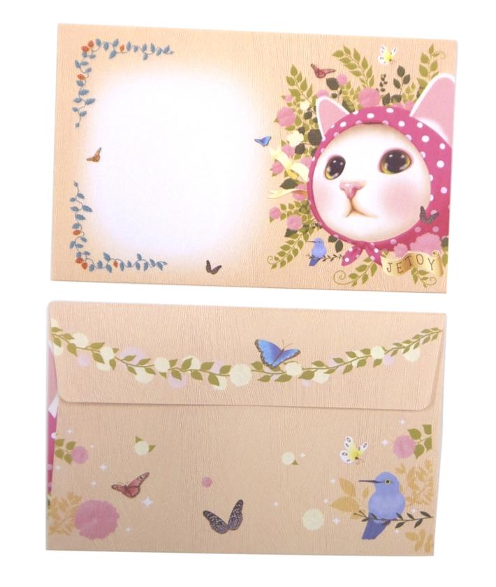 封筒の表と裏のデザイン。<br>日本の定形郵便物のサイズです。