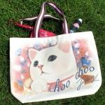 猫のエコバッグ キャンバス カップ