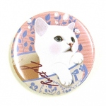 猫の缶バッジ S カップ