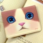 猫のパスケース プレミアム 白茶