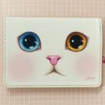 猫のパスケース プレミアム 白