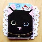 猫のカードケース プレミアム 黒