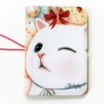 猫のカードケース リボン
