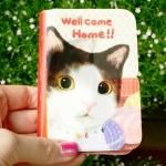 猫のウィンクカードケース はちわれ