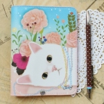 猫のパスポートケース プレミアム バラ