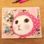 猫のマウスパッド ピンクずきん