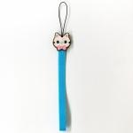 猫のキャンディストラップ ブルー