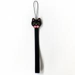 猫のキャンディストラップ ブラック