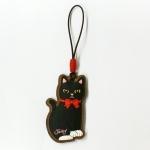 猫のクリーナーストラップ2 黒