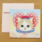 猫のスタンドカード ハート