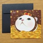 猫のスタンドカード 金貨
