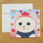 猫のスタンドカード ピーチ