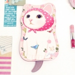 猫のしっぽ付きポーチ ピンクずきん