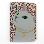 猫のパスポートケース4 グレイレオパード