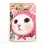 猫のパスポートケース4 ピンクずきん