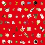 猫のラッピングペーパー クリスマス2