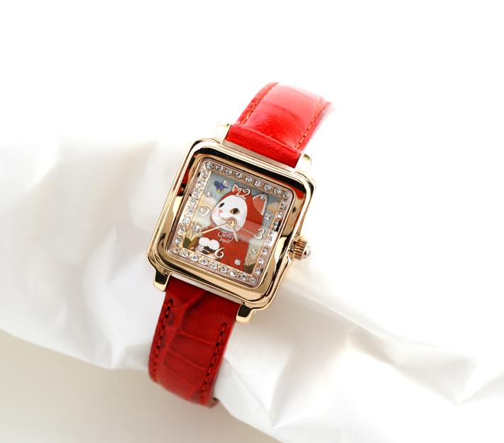 女性の腕にぴったりと合う、<br>可憐な腕時計♪
