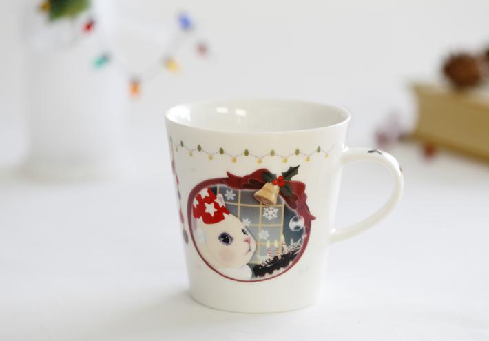大人気のマグカップ、<br>クリスマスバージョンです。