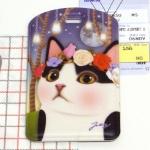 猫のネームタグ4 白黒フラワー