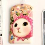 猫のネームタグ4 ピンクずきん
