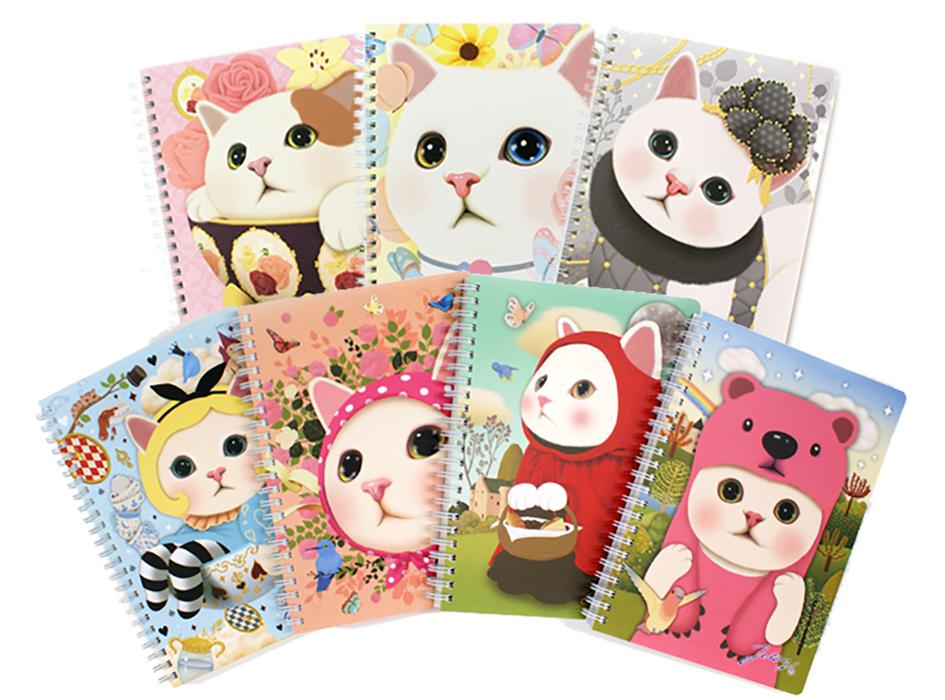 「猫のリングノート」<br>アリス・ピンクずきん・赤ずきん<br>ピンクベア・バタフライ・<br>ローズ・グレイの7種から、<br>いずれか1つお入れします♪