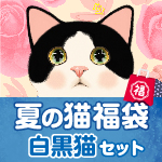 夏の猫福袋 白黒猫セット