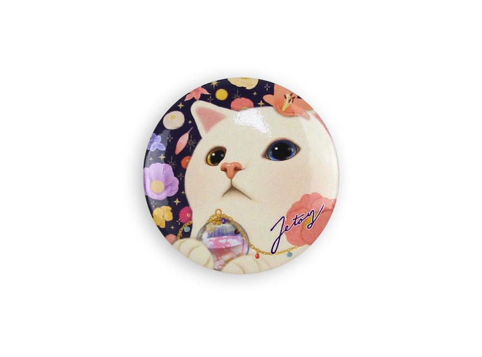 カラフルな花と白猫の色合いがオシャレ!<br>ファンシーでキュートなデザイン♪