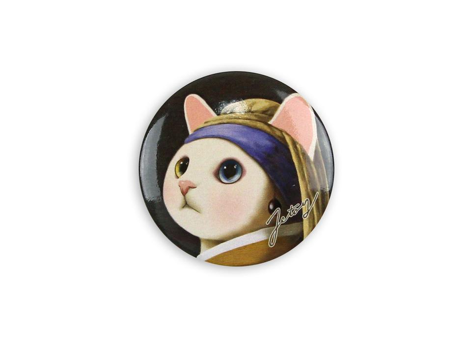 猫の缶バッジM ターバン