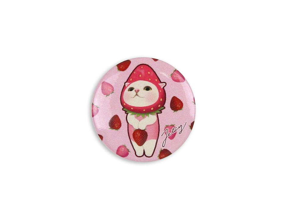 いちご猫がポップでかわいい♪<br>ピンク色をベースにした愛らしいデザイン♪