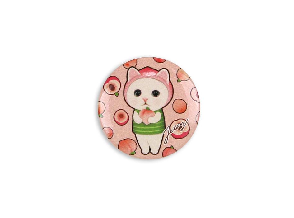 ピーチ猫のあどけない表情がキュート♪<br>ピンク色をベースにした愛らしいデザイン♪
