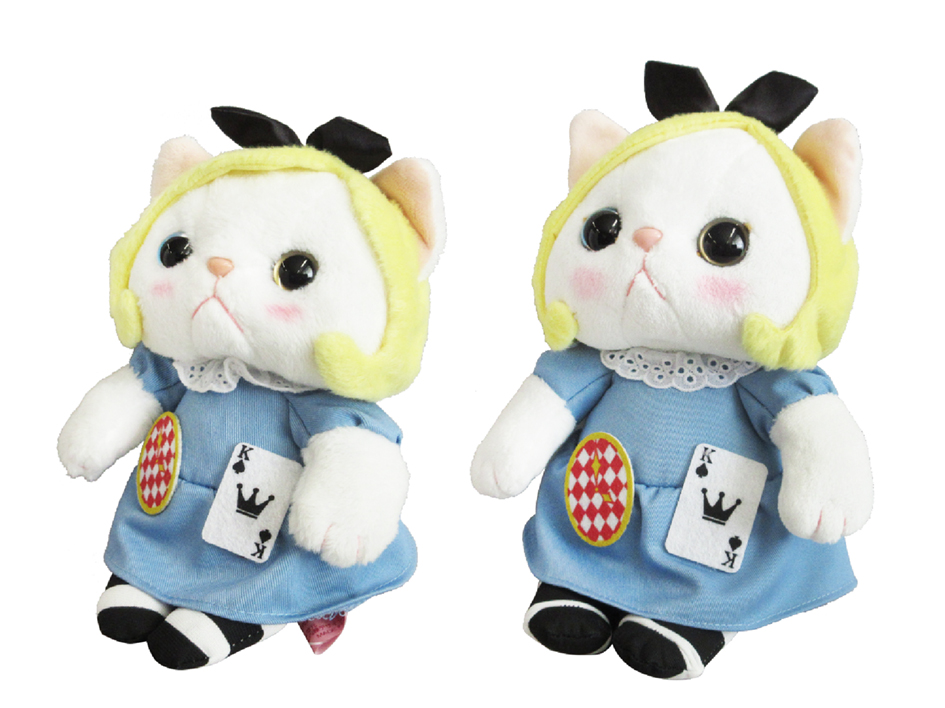 アリス猫の大きな瞳は、<br>左右の色が違うオッドアイ♪