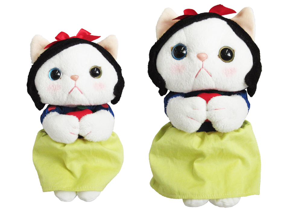 猫のぬいぐるみ 白雪姫は<br>MとSがあります♪<br>どちらも、選べないかわいさ!
