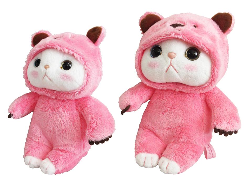 ピンクベア猫のまん丸でかわいい瞳は、<br>左右の色が違うオッドアイ♪