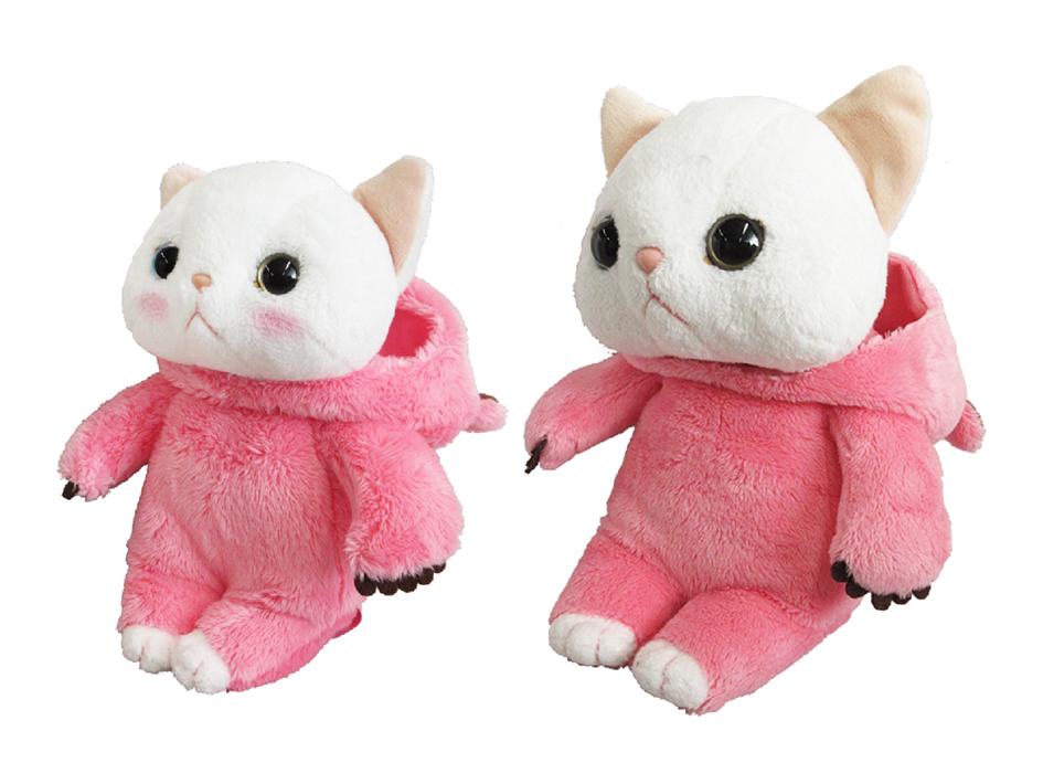 フード部分は脱ぐことができます♪<br>白猫にもどった表情もかわいい!