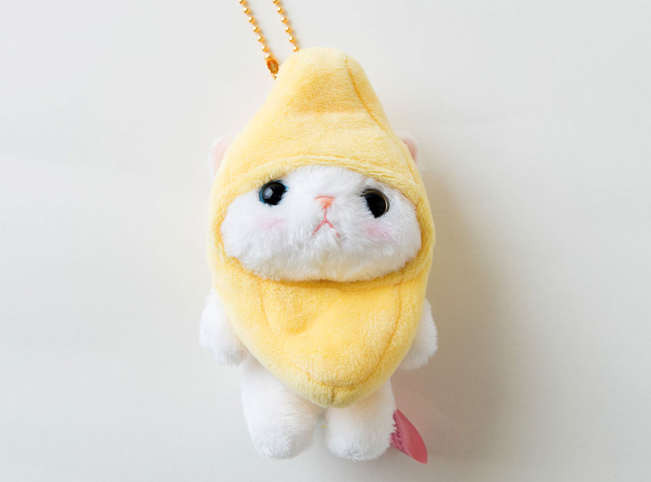 猫のぬいぐるみ バナナ マスコット