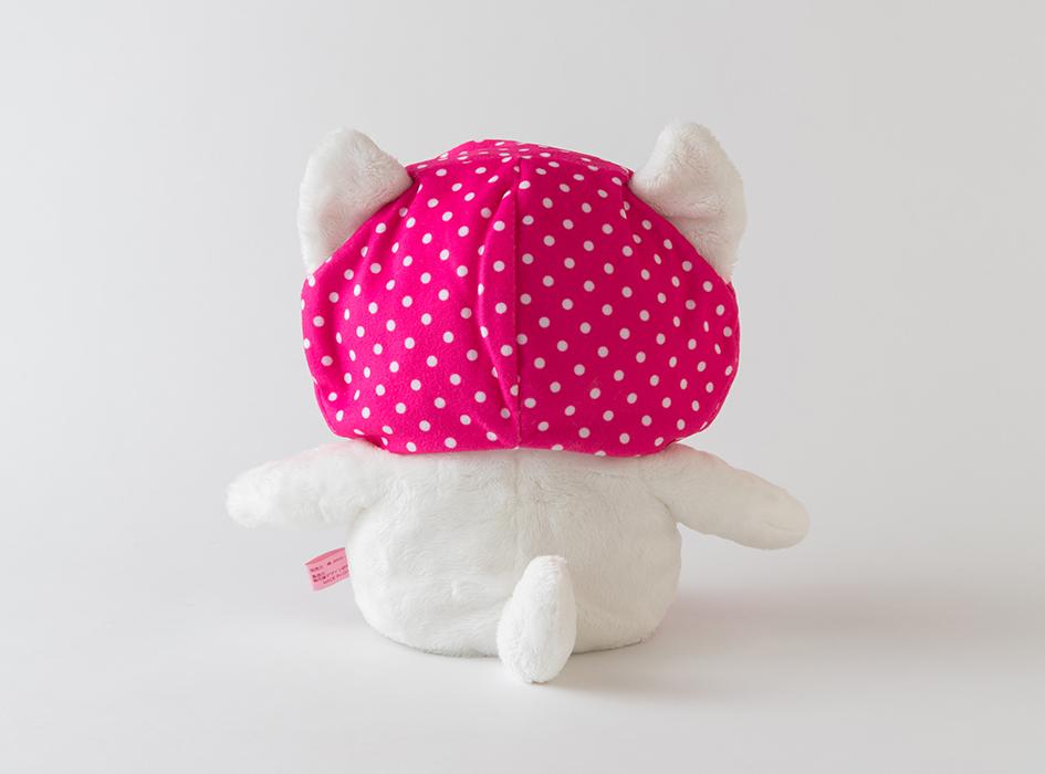 後ろ姿も愛らしい♪<br>頭のピンクずきんは取り外しも可能です!