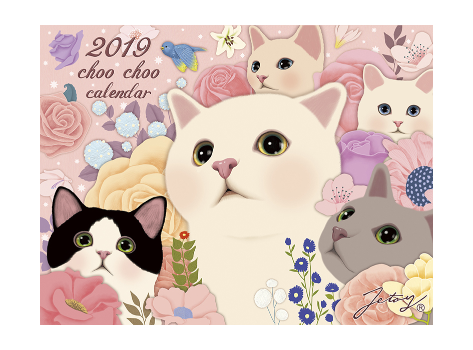 猫の大判壁掛けカレンダー2019(日本製)