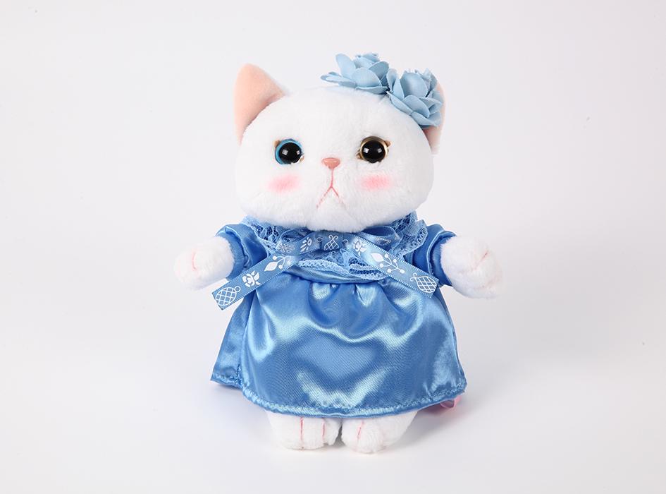猫のぬいぐるみ ブルーローズ S