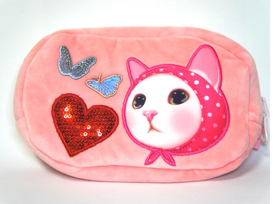 ひっくり返すと<br>まるまるとした瞳が<br>愛らしいピンクずきんが!!♪<br>キュートなモチーフもたくさん!