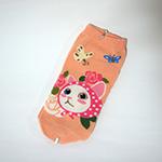 猫の靴下 ピンクずきん