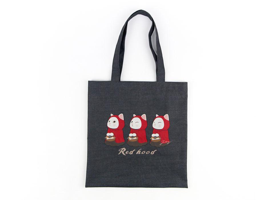 猫のポリコットントートバッグ