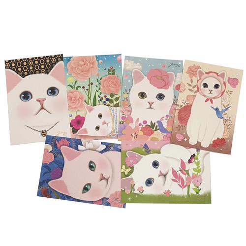 猫のポストカード6枚セット A