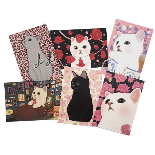 猫のポストカード6枚セット C