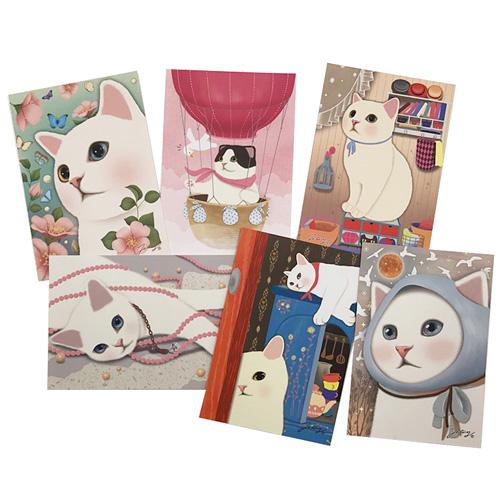 猫のポストカード6枚セット D