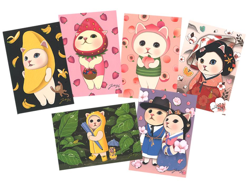 大人気のchoo chooたちが<br>6枚セットのポストカードです♪